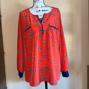 Style & Co.   Long Sleeve Dragonfly Blouse